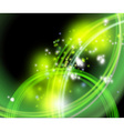 green flaring background vector image vector image