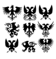 griffin and eagle set vector image vector image