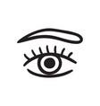 hand drawn eye vector image vector image