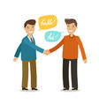 handshake shaking hands friendship concept vector image