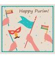 Happy Purim Party or festival Invitation design vector image vector image