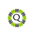 healthy dental care letter q vector image