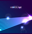 hi-tech futuristic neon laser rays abstract vector image
