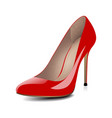 High heels red shoes vector image