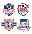 icons for soccer championship cup vector image vector image