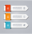 infographic template in paper style vector image