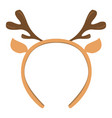 isolated headband icon with moose horns vector image