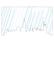 Isolated skyline of New york vector image vector image
