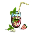 Isolated Strawberry Mojito vector image