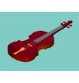 Isometric classical acoustic violin icon vector image
