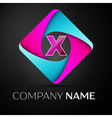 Letter X logo symbol in the colorful rhombus vector image vector image