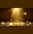 light rays and golden falling glittering dust vector image vector image