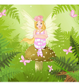 Magic fairy in forest vector image vector image