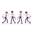 male security guard walking and running vector image