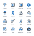 Medical and Health Care Icons Set 1 - Blue Series vector image vector image