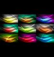 mega collection of abstract neon backgrounds vector image