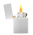 metal gasoline lighter vector image