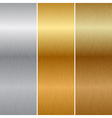 metal textures vector image vector image