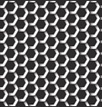 monochrome seamless pattern of hexagonal shapes vector image