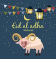 muslim holiday eid al-adha the sacrifice a ram or vector image vector image