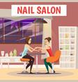 nail salon background vector image vector image