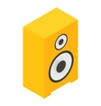 New sound speaker isometric 3d icon vector image vector image
