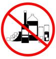 No alcohol zone vector image vector image