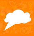 Paper cloud on funky background vector image vector image