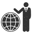 Planetary Manager Icon Rubber Stamp vector image