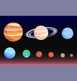 planets collection poster vector image vector image