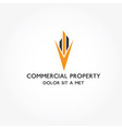 Real Estate commercial property design template vector image vector image