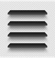 realistic empty store shelves set product shelf vector image