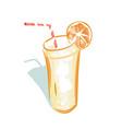 refreshing beverage realistic style logo vector image