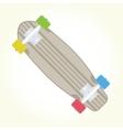 Retro skateboard isolated vector image