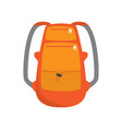 roomy stylish backpack accessory for extreme ski vector image vector image