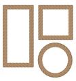 Rope Creative Ornamental Frames vector image vector image