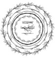 round frame made of floral branches vector image vector image