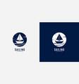 sailing yacht logo design vector image vector image