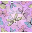 Seamless background with butterflies and vector image vector image