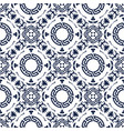 seamless floral abstract geometric pattern vector image vector image