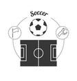 set concept icon soccer sport vector image vector image