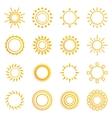 set vintage sunburst vector image vector image