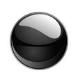 shiny sphere 02 black vector image vector image