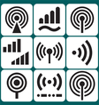 Signal Icons Set vector image vector image