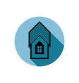 Simple house detailed Property developer vector image vector image