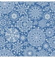 Snowflakes seamless patternWinter lace vector image vector image