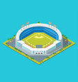 soccer or baseball park or stadium concept 3d vector image vector image
