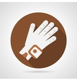 Sport glove flat icon vector image vector image