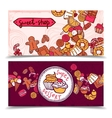 Sweetshop vintage candy banners set vector image vector image