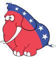 The American elephant The elephant party vector image vector image
